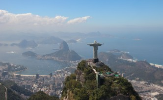 Christ the Redeemer and Sugarloaf from the helicopter