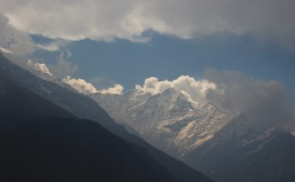 Snowy peaks of the Himalayas